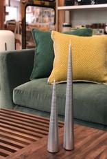 Cone Candle-Medium-Silver
