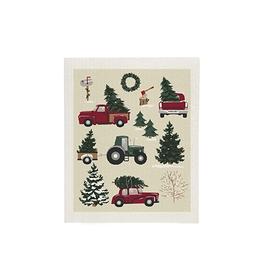 Vintage Christmas Swedish Dishcloth