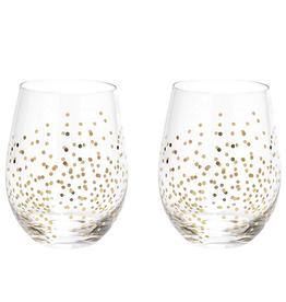 Confetti Wine Glasses, Set/2