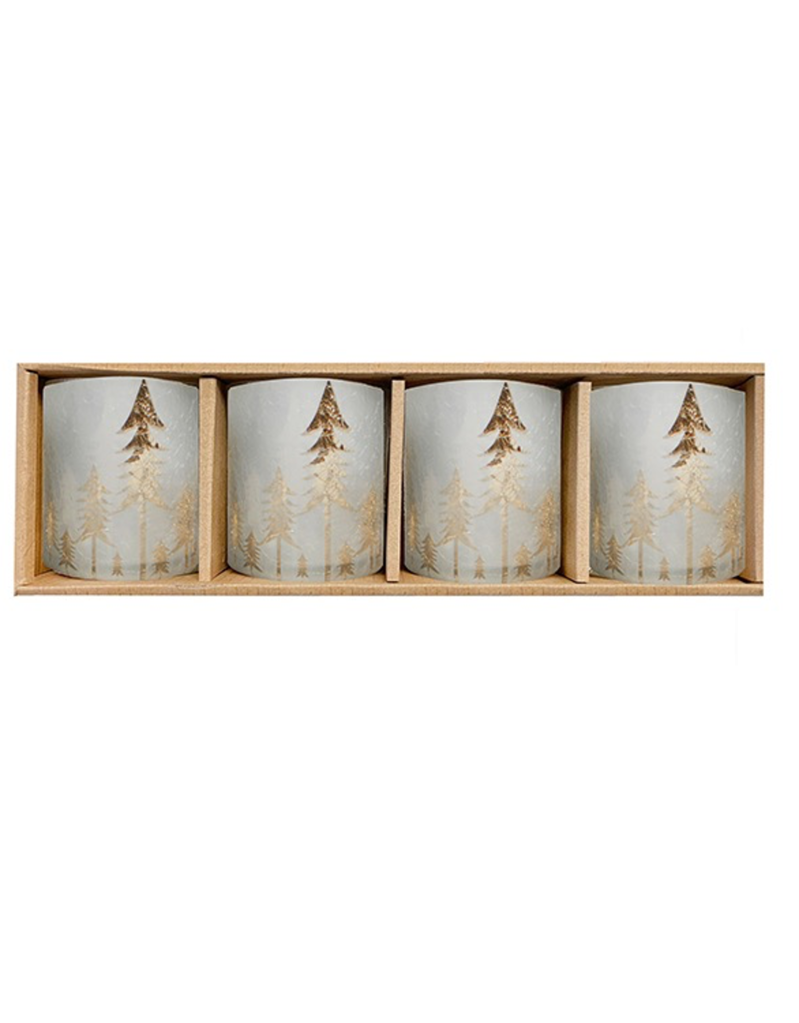Frosted Forest Candle Holders, Set/4
