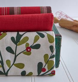 Mistletoe Tea Towel, Set/3