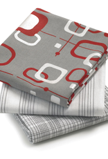 Retro Christmas Dish Towels, Set/3