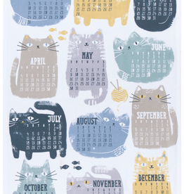 Purrfect Year 2021 Calendar Teatowel