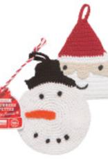 Snowman And Saint Nick Tawashi Scrubbers