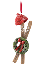 Skis With Wreath