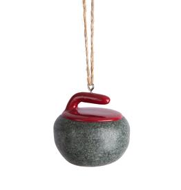 Curling Rock Ornament