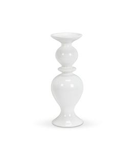 Shapely White Pillar Holder, Medium