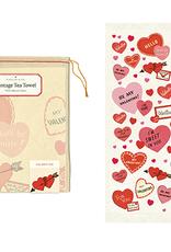 Valentine Hearts Tea Towel