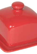Butter Dish, Red