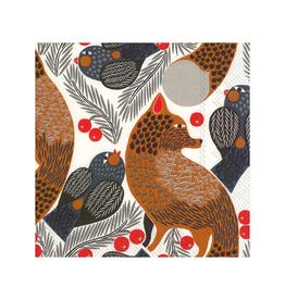 Marimekko Paper Napkins Fox & Birds