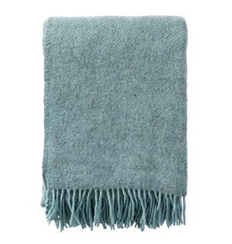 Gotland Wool Throw - Turquoise