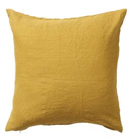 100% Linen Throw Cushion - Mustard 50cmx50cm