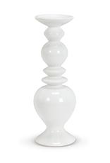 Shapely White Pillar Holder, Large