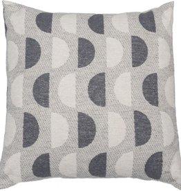 Organic cotton half circles cushion