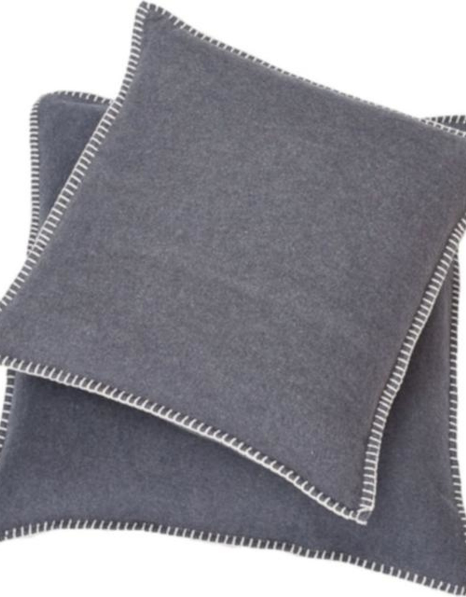 Blanket stitch cushion, grey