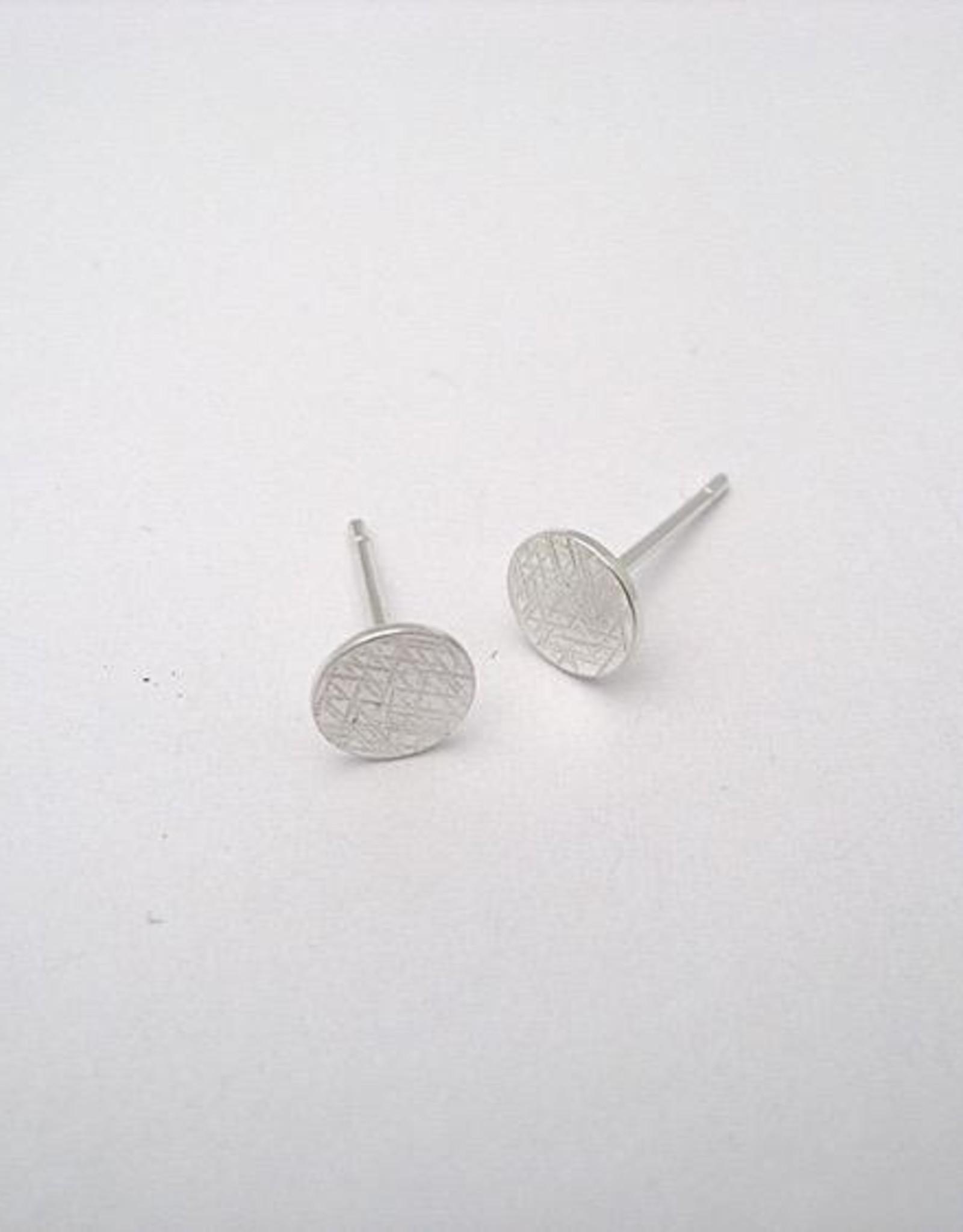 Scratch Earrings, Silver