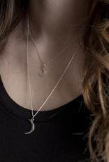"""Moonlight Necklace 18"""" Sterling Silver"""