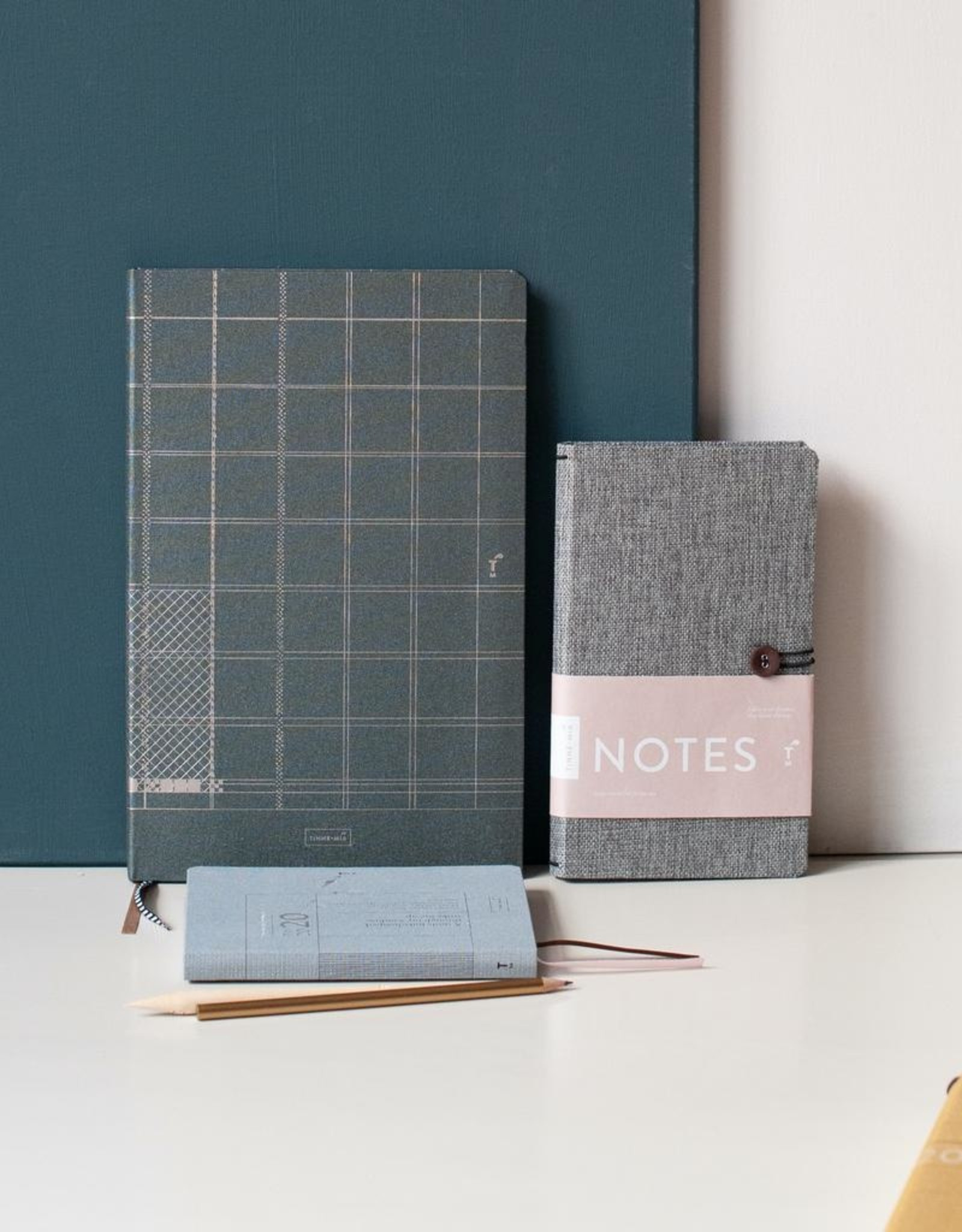 A4 Lined Notebook Green