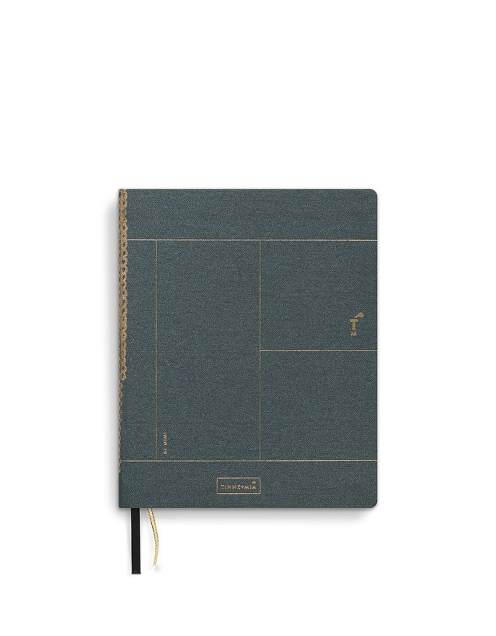 A6 Notebook Forest Green, Copper Foil