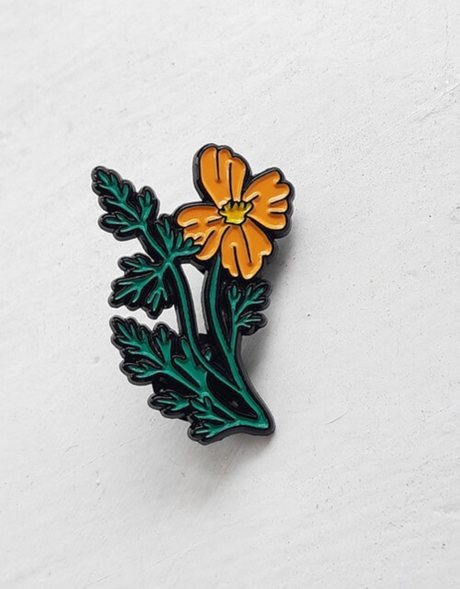 California Poppy Pin