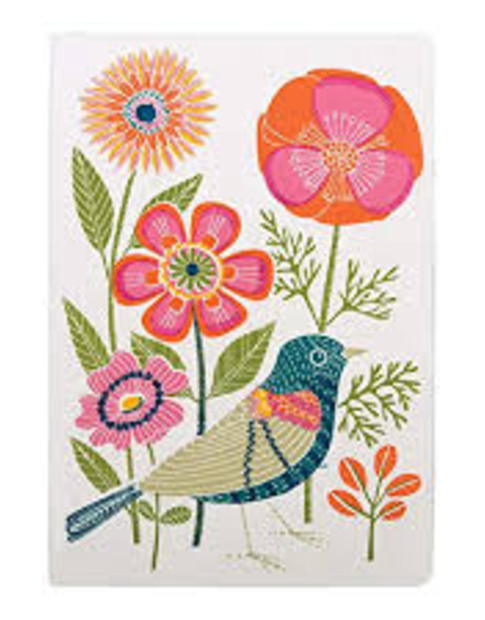 Avian Friends Embroidered Journal