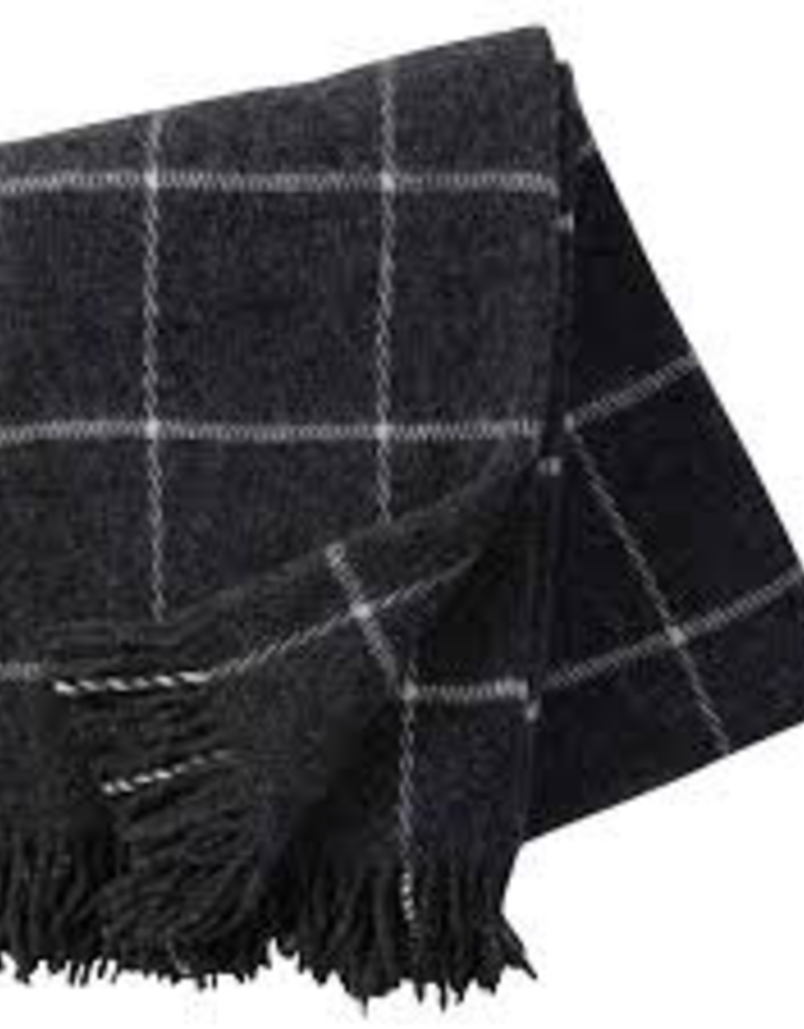 Wool Throw-Dark Grey