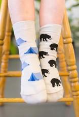 Bear And Tree Kids Socks-Age 2-4