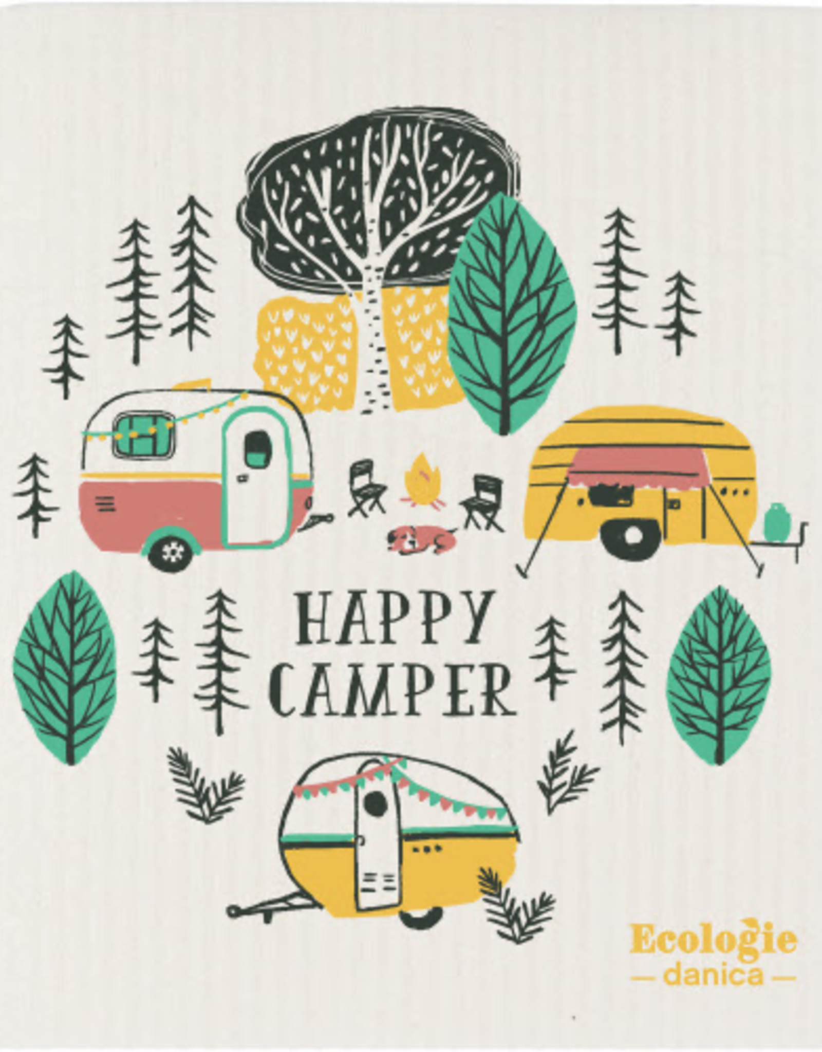 Swedish Dishcloth - Happy Camper