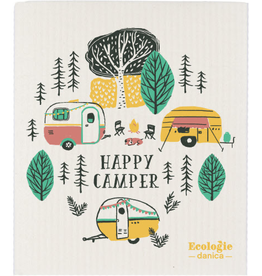 Swedish Dishcloth - Happy Camper