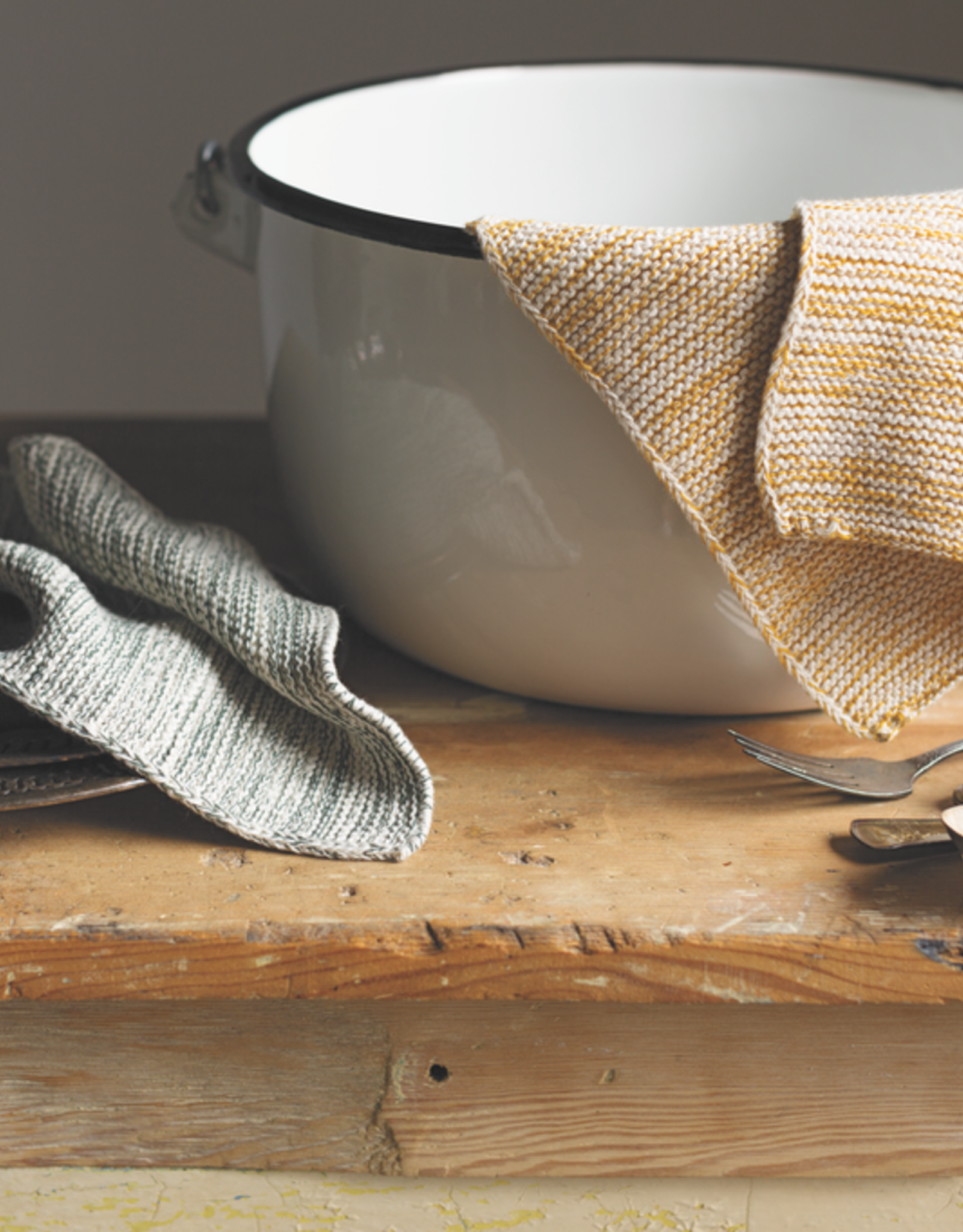 Knit Dishcloth Set/2 - Ochre