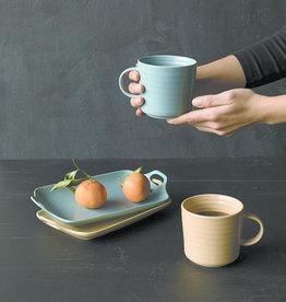 Terrain Ceramic Serving Tray Slate Blue