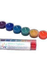 Beeswax Rainbow Chakra Tealights