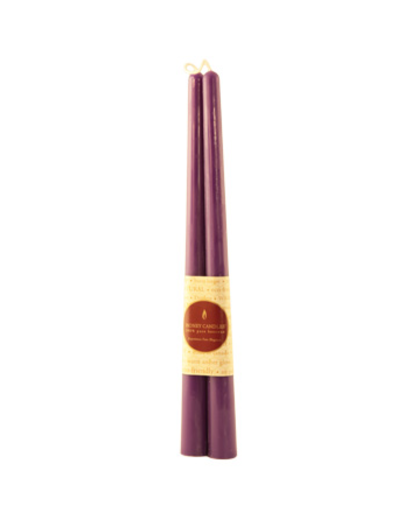 "12"" Beeswax Taper Pair-Violet"