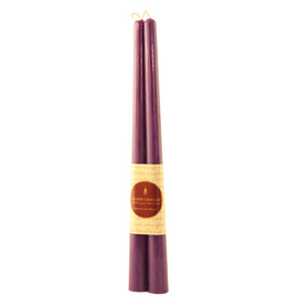 """12"""" Beeswax Taper Pair-Violet"""