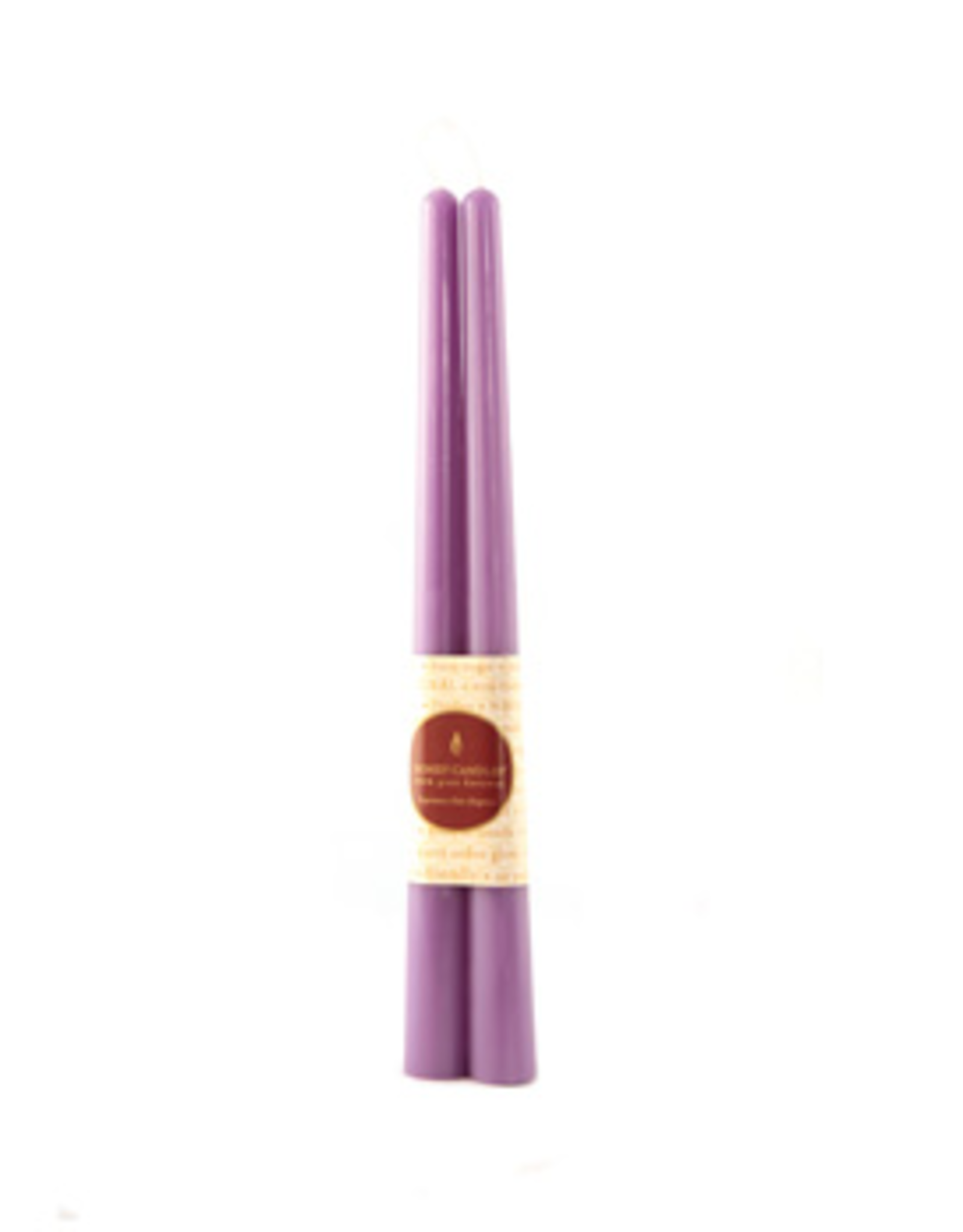 "12"" Beeswax Taper Pair-Spring Crocus"