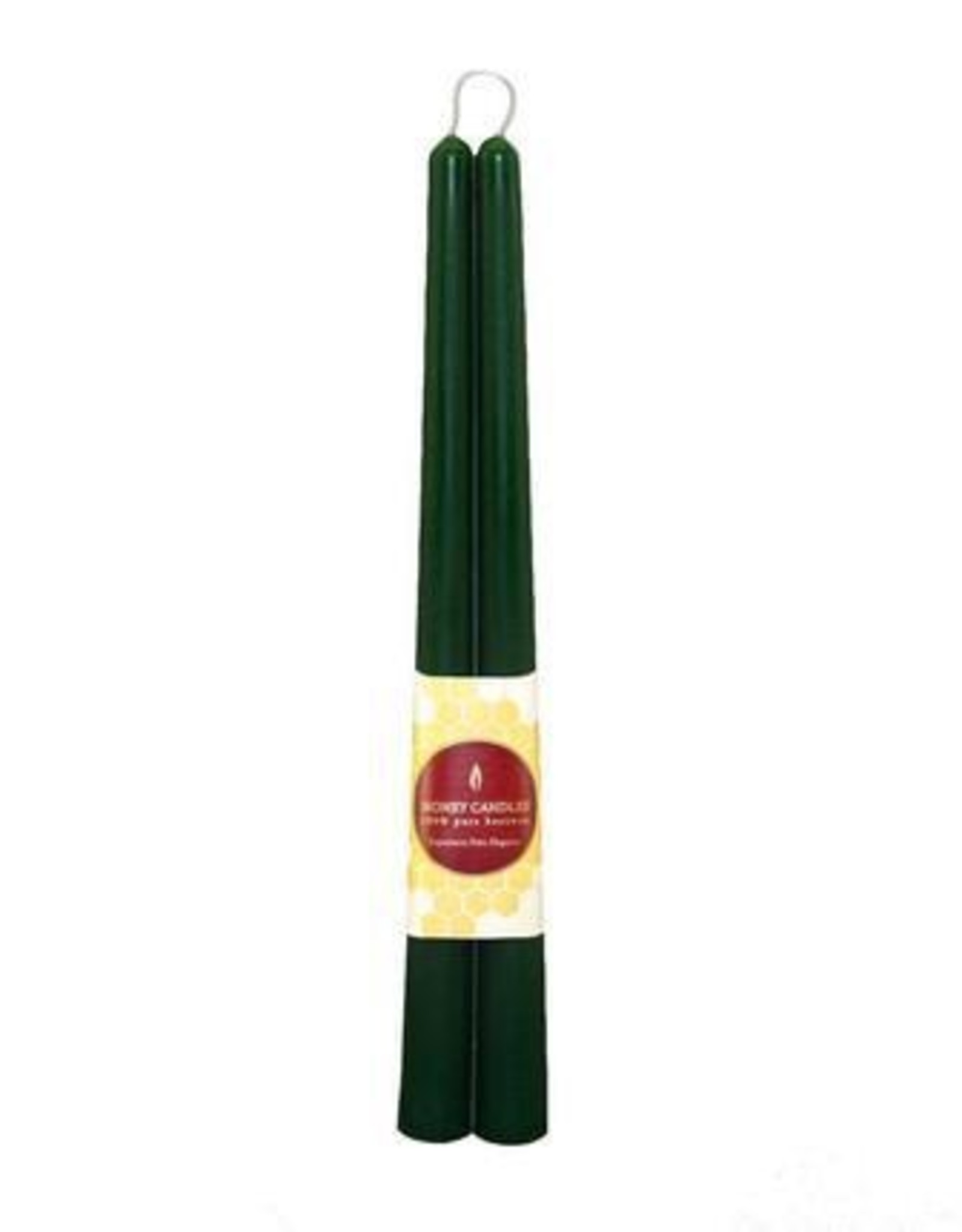 """12"""" Beeswax Taper Pair - Green"""