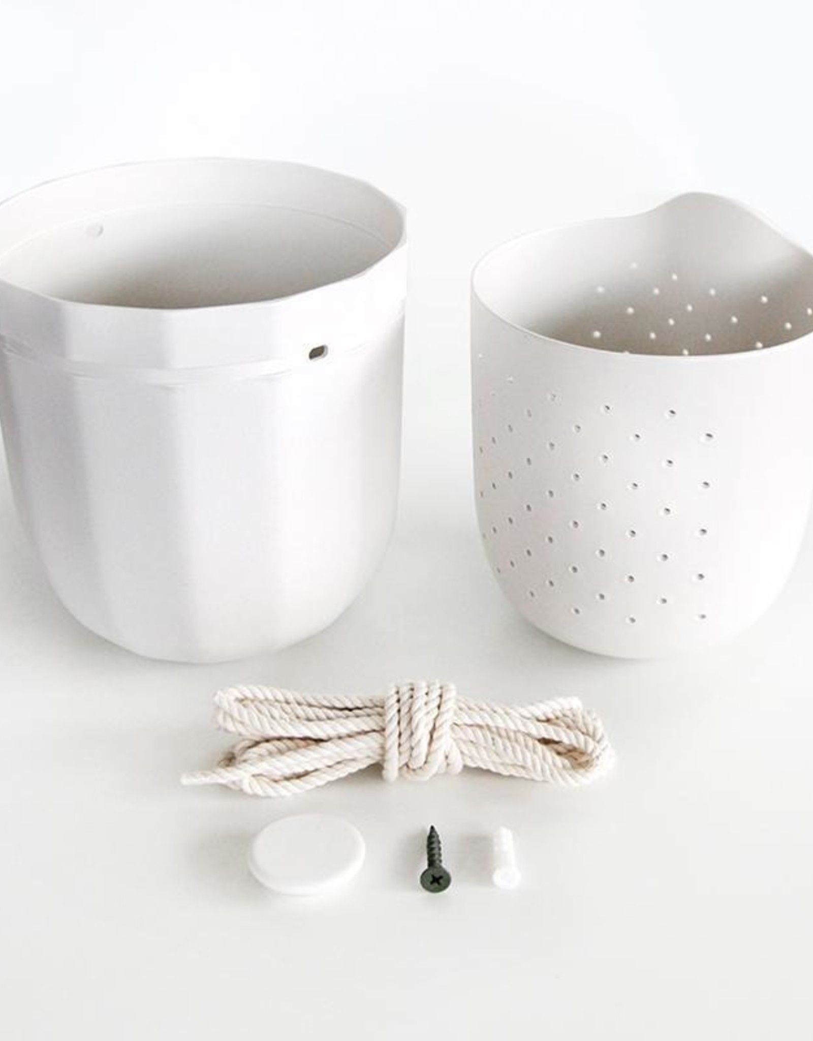 Loop Planter - White