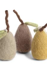 Felted Pear Ornaments - Fair Trad Set/3