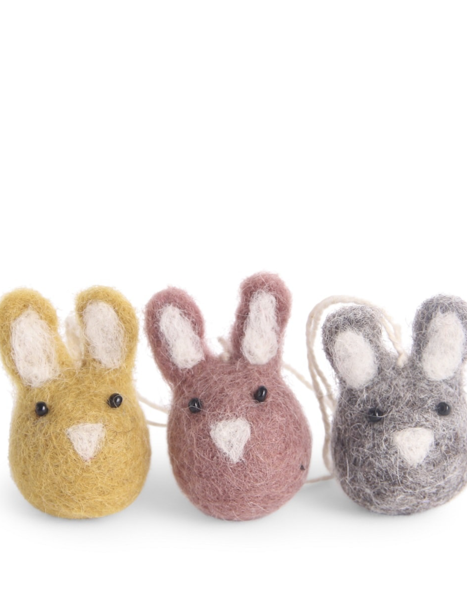 Mini Bunny Ornaments - Fair Trade Set/2