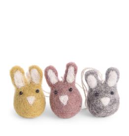 Mini Bunny Ornaments - Fair Trade Set/2