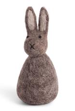 Felted Spring Bunny Decoration, Grey