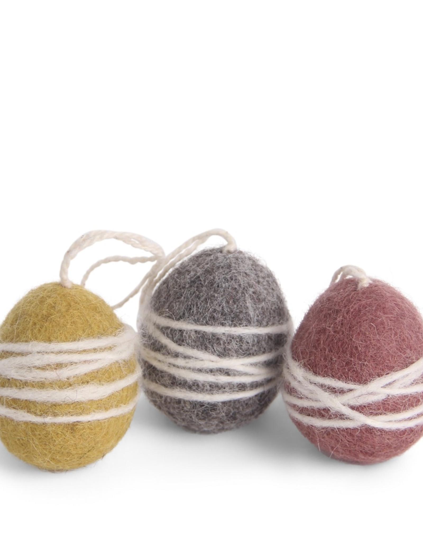 Felted Egg Ornaments Set/3, Fair Trade