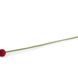 Felt Ball Flower Small - Cerise