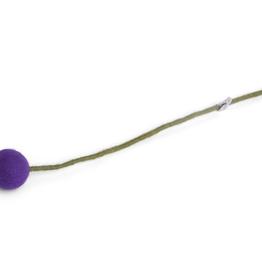 Felt Ball Flowers Large - Bright Purple