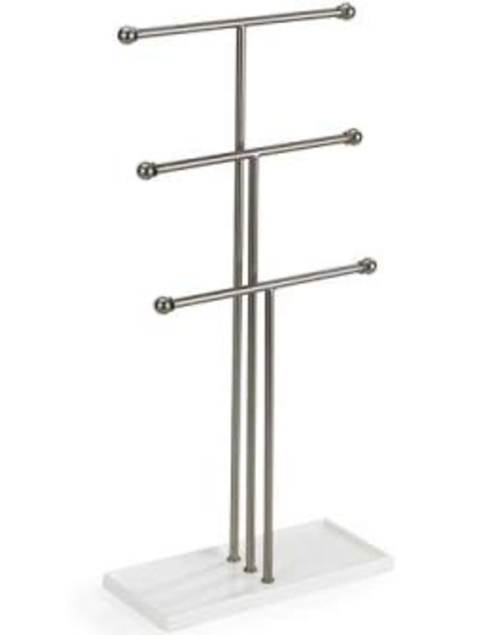 Trigem Jewelry Stand White/Nickel