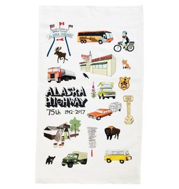 Alaska Highway 75th Anniversary Commemorative Tea Towel