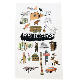 Whitehorse Landmarks Tea Towel
