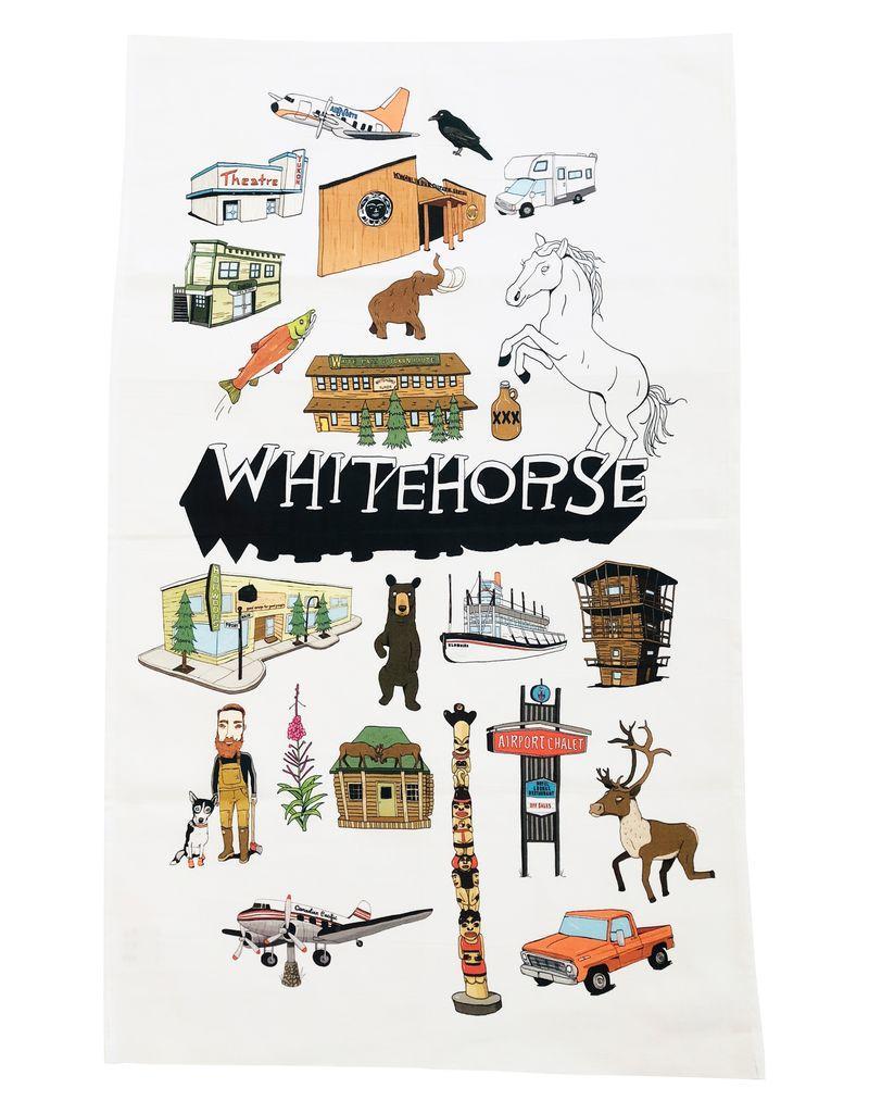 Whitehorse Landmarks Tea Towel