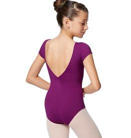 Lulli Dancewear Alyona Short Sleeve V Back Leotard