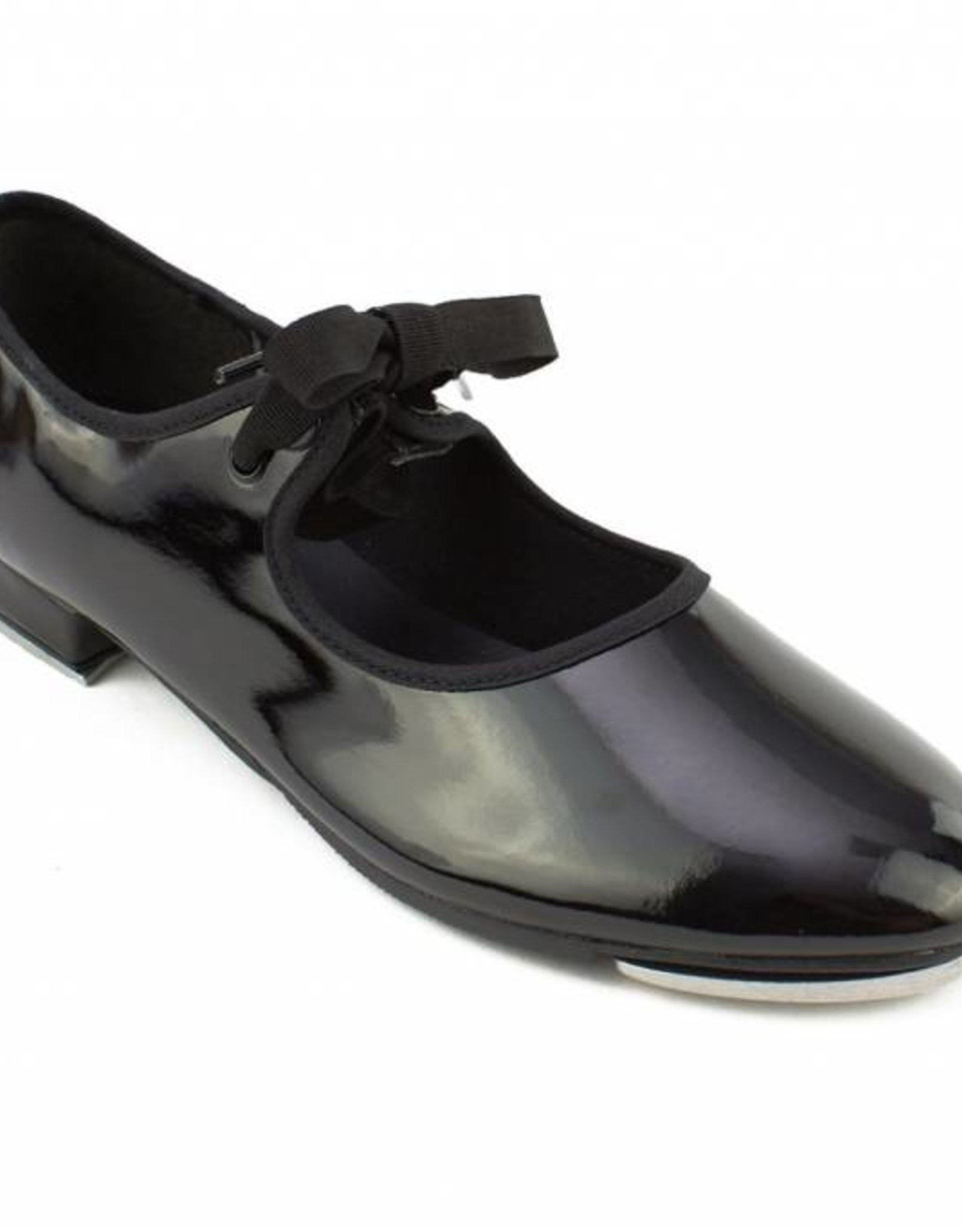 So Danca Val - Girls Tie Tap Shoe in Patent Black